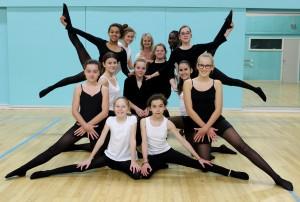 Photos de groupe des danseuses